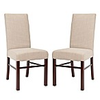 Safavieh Side Chair in Beige Linen (Set of 2)