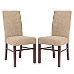 Safavieh Side Chair in Olive Linen (Set of 2)