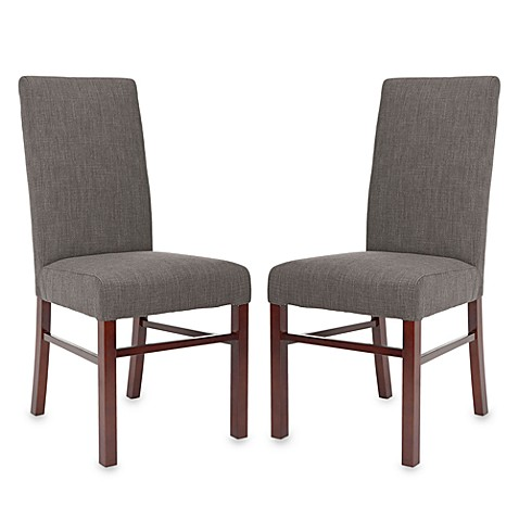 Safavieh  Side Chair in Charcoal Linen (Set of 2)