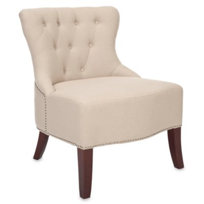 Safavieh Zachary Chair in Beige Linen
