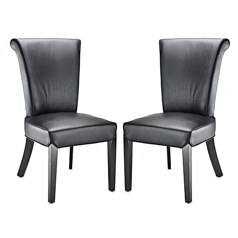 Safavieh Kiera Side Chairs in Black (Set of 2)