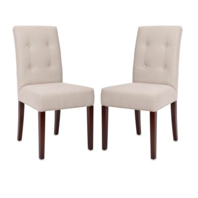 Safavieh Saxton Side Chair in Beige (Set of 2)