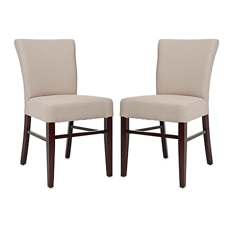 Safavieh Teagon Side Chairs in Beige (Set of 2)