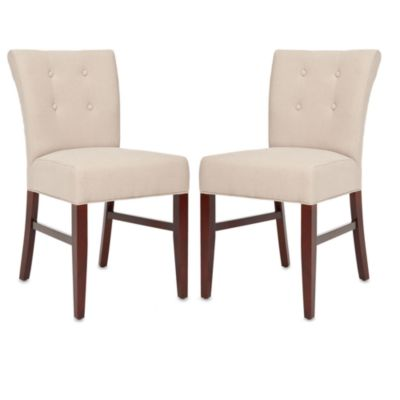 Safavieh Trevor Side Chair in Beige (Set of 2)
