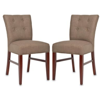 Safavieh Trevor Side Chair - Olive (Set of 2)