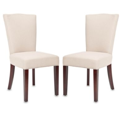Safavieh Colette Side Chair - Beige Linen (Set of 2)