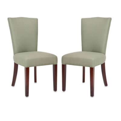 Safavieh Colette Side Chair - Gray Linen (Set of 2)