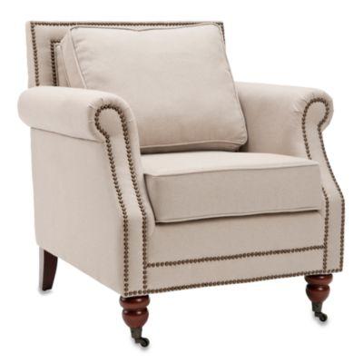 Safavieh Karsen Club Chair in Beige Linen