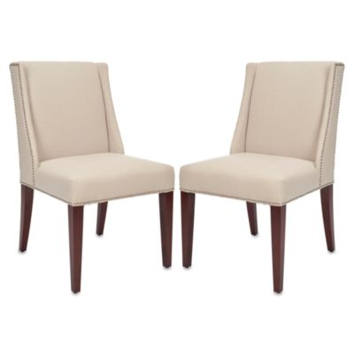 Safavieh Lauren Side Chair - Beige Linen (Set of 2)