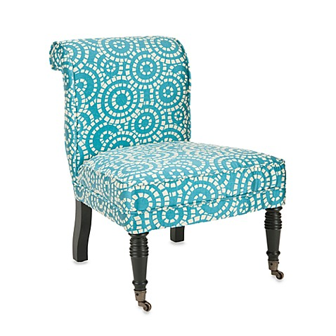 Safavieh Orson Side Chair in Blue and White