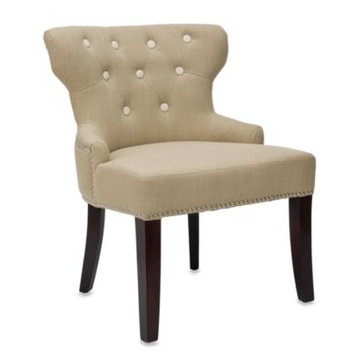 Safavieh Jake Linen Chair in Light Sage