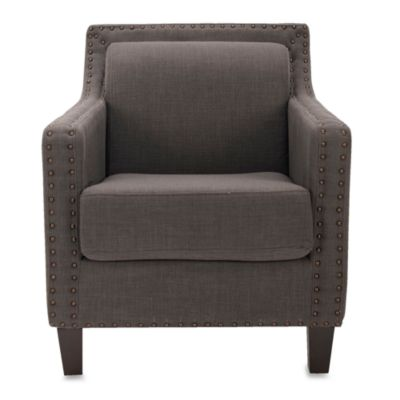 Safavieh Charles George Arm Chair in Bluish Grey