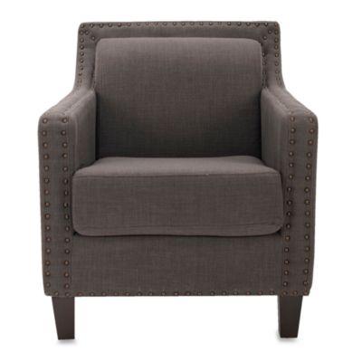 Safavieh Charles George Arm Chair in Bluish Grey