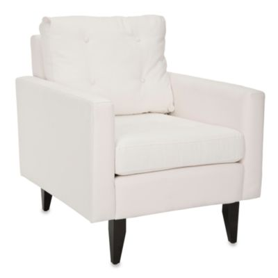 Safavieh Caleb Club Chair in White Cotton