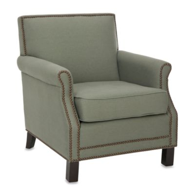 Safavieh Easton Club Chair in Gray Linen
