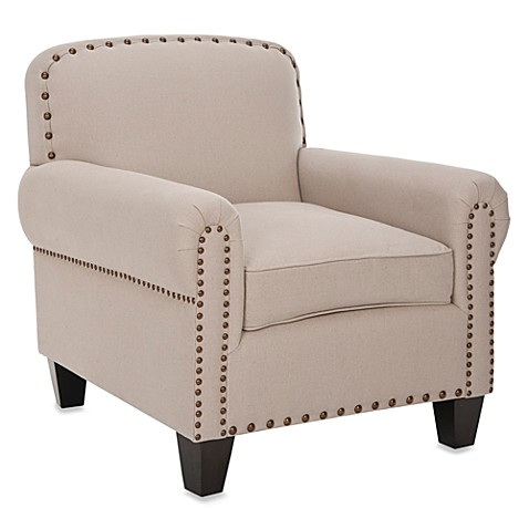 Safavieh Abigail Club Chair in Beige Cotton