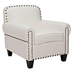 Safavieh Abigail Club Chair in White Cotton