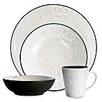 Noritake Colorwave Graphite Bloom 4-Piece Place Setting