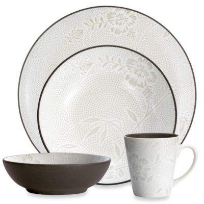 Noritake Colorwave Chocolate Bloom 4-Piece Place Setting