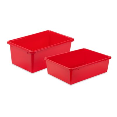Honey-Can-Do® Large Plastic Storage Bin in Red
