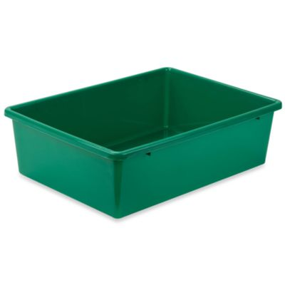 Honey-Can-Do® Large Plastic Storage Bin in Green