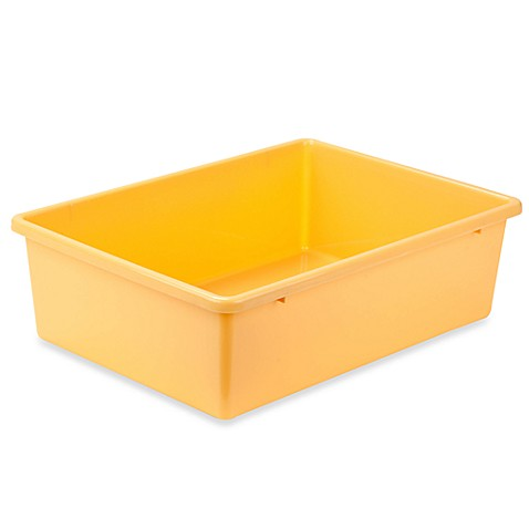 Honey-Can-Do® Large Plastic Storage Bin in Yellow