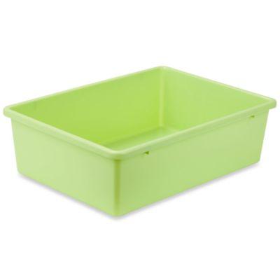 Honey-Can-Do® Large Plastic Storage Bin in Light Green