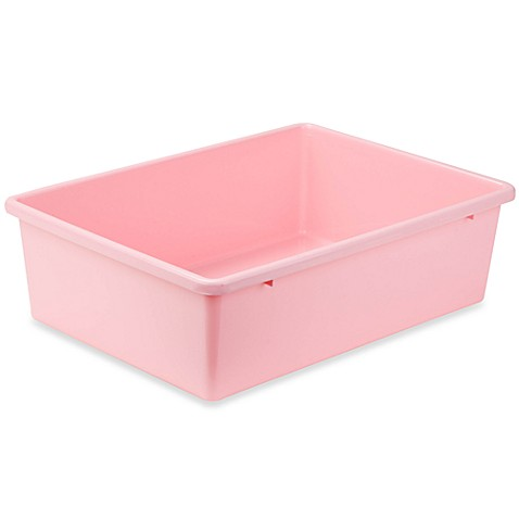 Honey-Can-Do® Large Plastic Storage Bin in Light Pink