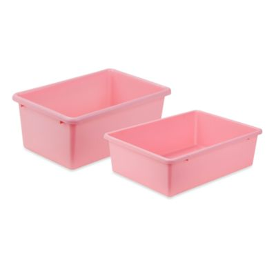 Honey-Can-Do® Large Plastic Storage Bin in Dark Pink