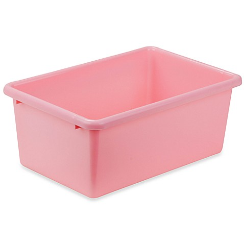 Buy honey can do small plastic storage bin in dark pink for Pink bathroom bin