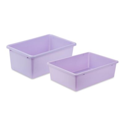 Honey-Can-Do™ Plastic Storage Bin in Light Purple