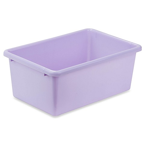 Honey-Can-Do® Small Plastic Storage Bin in Light Purple