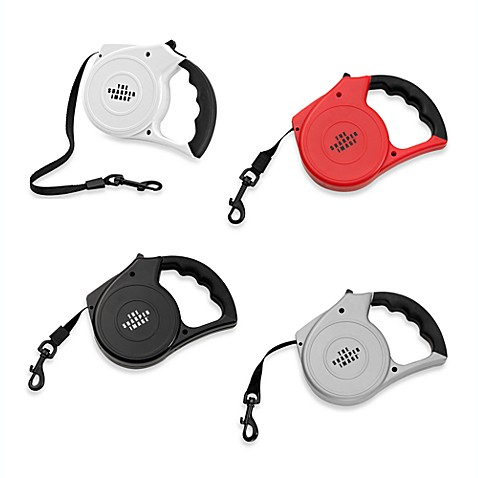 Sharper Image® Rubber Grip Retractable Leash