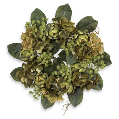 Nearly Natural 18-Inch Artichoke Wreath