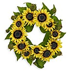 Nearly Natural 22-Inch Sunflower Wreath