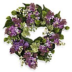 Nearly Natural 20-Inch Hanel Lilac Wreath