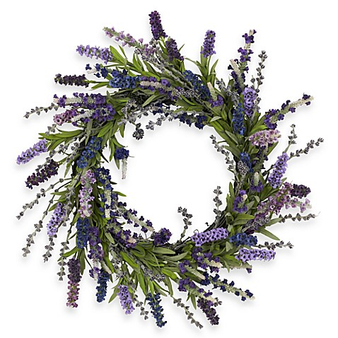 Nearly Natural 20-Inch Lavender Wreath