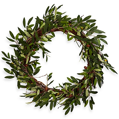 Nearly Natural 20-Inch Olive Wreath