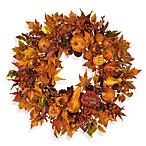 Nearly Natural 28-Inch Harvest Wreath