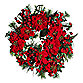 "Nearly Natural 24"" Poinsettia Wreath"