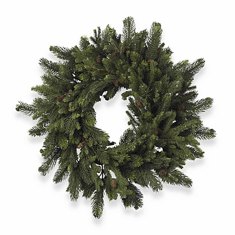 Nearly Natural 30-Inch Pine & Pinecone Wreath