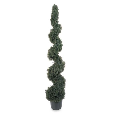 Nearly Natural 5-Foot Cedar Spiral Silk Tree