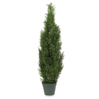 Nearly Natural 4-Foot Mini Cedar Pine Silk Tree