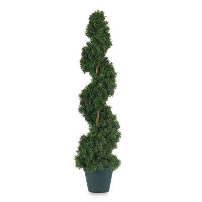 Nearly Natural 3-Foot Cedar Spiral Silk Tree
