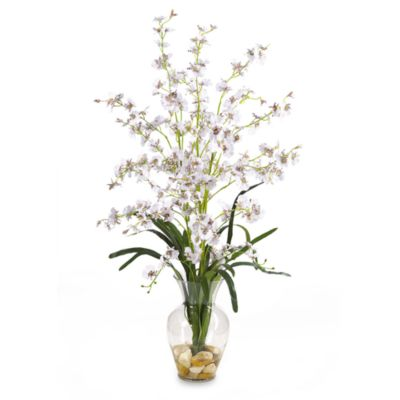 Nearly Natural Dancing Lady Liquid Illusion Silk Arrangement in White