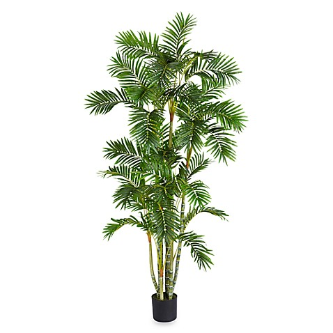Nearly Natural Areca Palm 6' Silk Tree with 33 Fronds