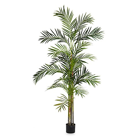 Nearly Natural Areca Palm 6-Foot Silk Tree with 5 Trunks
