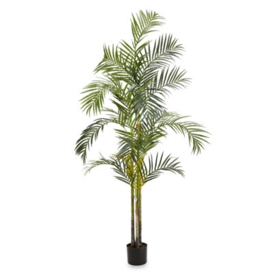 Nearly Natural Areca Palm 7-Foot Silk Tree with 4 Trunks