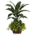 Nearly Natural 4-Foot Bird of Paradise w/ Vase & Pothos Silk Plant
