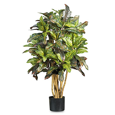 Nearly Natural 3' Croton Silk Tree